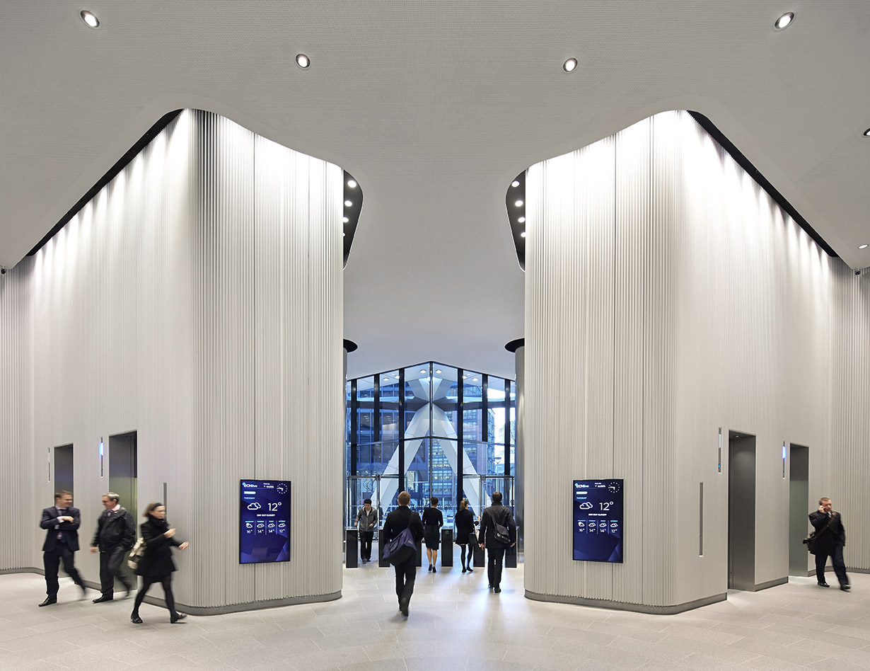 Hufton crow projects the gherkin for Office interior projects
