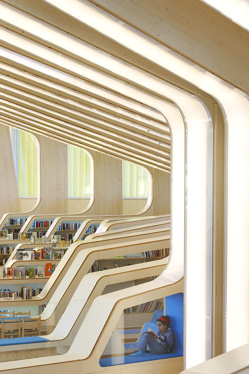Hufton crow projects vennesla library for Architecture dessin interieur