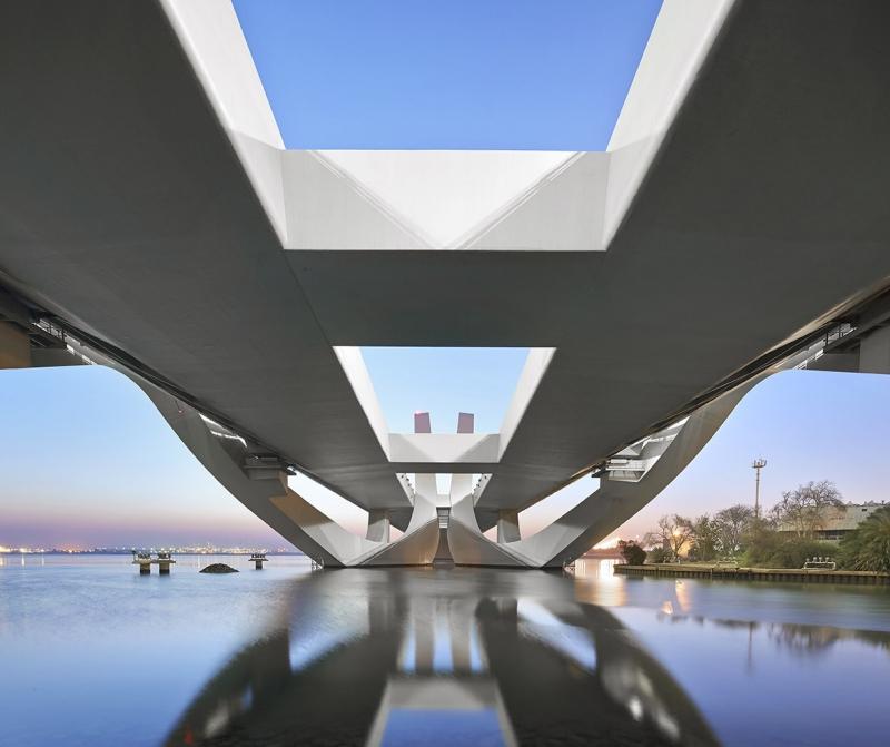 View under bridge